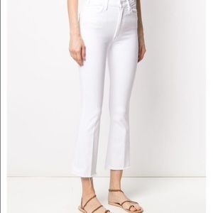MOTHER White Kick Flare Jeans